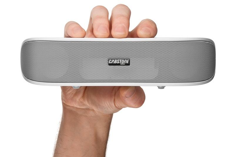 cabstone soundbar wei stereo lautsprecher mit subwoofer. Black Bedroom Furniture Sets. Home Design Ideas