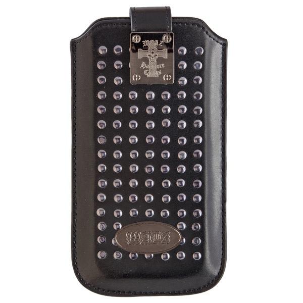 Handy Tasche Walz Hardcore Cycles Rivets Case Ls Leather Black